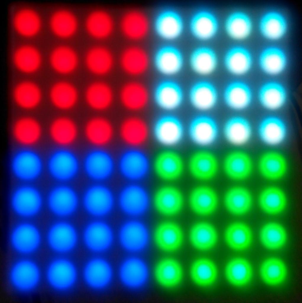 Ukázka RGB matice